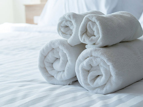 ręczniki w hostelu
